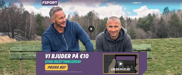 Spela Fantasy sport hos FSPORT med 10 euro gratis
